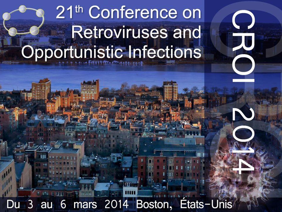 le meilleur …de la CROI 2014 MK-5172 + MK-8742 + RBV chez les co-infectés VIH/VHC génotype 1 : C-WORTHY MK-5172 : inhibiteur de protéase VHC (100 mg qd) MK-8742 : inhibiteur NS5A VHC (20 ou 50 mg qd) Evaluation (± RBV) traitement 12 semaines chez des patients VHC naïfs G1, non cirrhotiques : 65 mono-infectés et 59 co-infectés VIH sous RAL + 2 INTI Schéma de traitement 5172 + 8742 + RBV 5172 + 8742 5172 + 8742 + RBV 5172 + 8742 PopulationVHC VHC/VIH G1a3802422 G1b141358 Réponse sous traitement (ARN VHC < 25 UI/ml) S290 %92 %90 %77 % S496 %100 % S894 %100 % 90 % S1294 %100 % 90 % EI les plus fréquents : fatigue et céphalées, pas d'arrêt pour EI Données de RVS12 attendues pour conclure sur l'intérêt de ce schéma Sulkowski M, CROI 2014, Abs.
