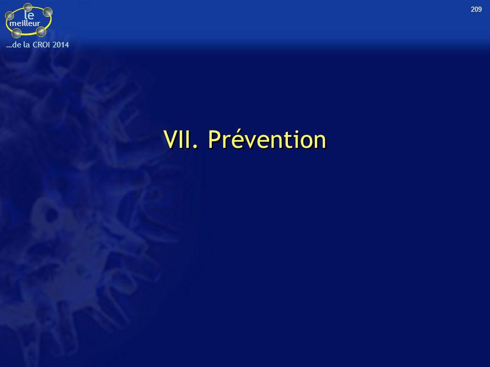 le meilleur …de la CROI 2014 209 VII. Prévention