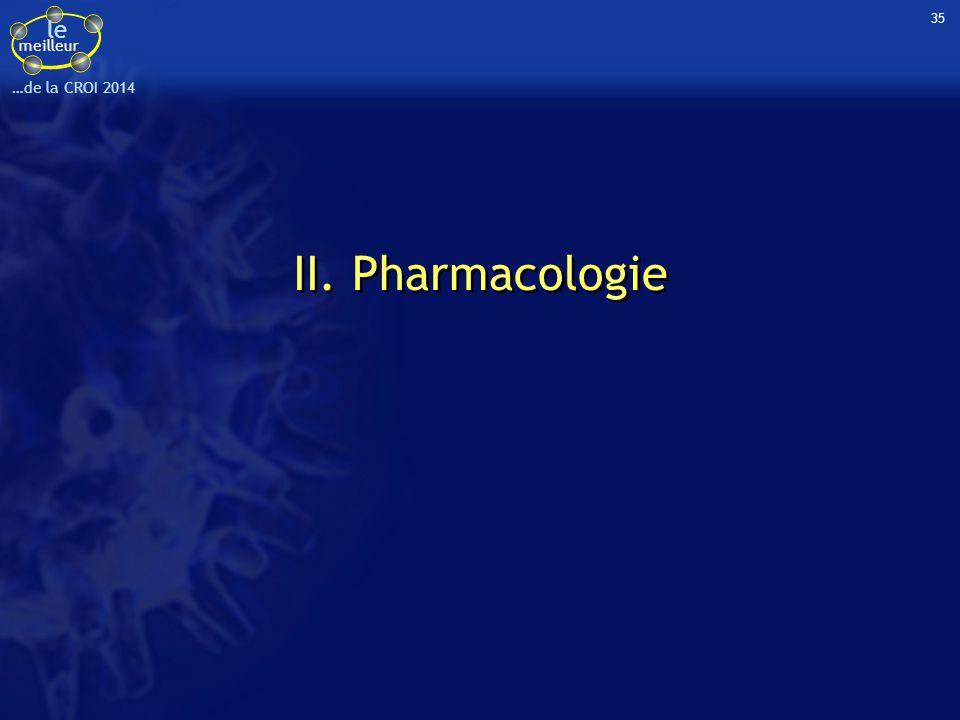 le meilleur …de la CROI 2014 35 II. Pharmacologie