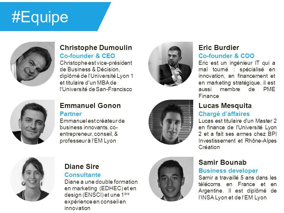 Christophe Dumoulin Co-founder & CEO Christophe est vice-président de Business & Décision, diplômé de l'Université Lyon 1 et titulaire d'un MBA de l'U