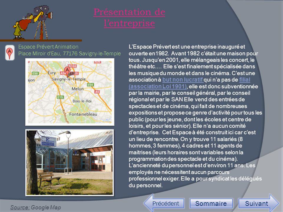 Espace Prévert Animation Place Miroir d Eau, 77176 Savigny-le-Temple Source: Google Map Précédent Sommaire Suivant Présentation de l'entreprise L'Espace Prévert est une entreprise inauguré et ouverte en1982.
