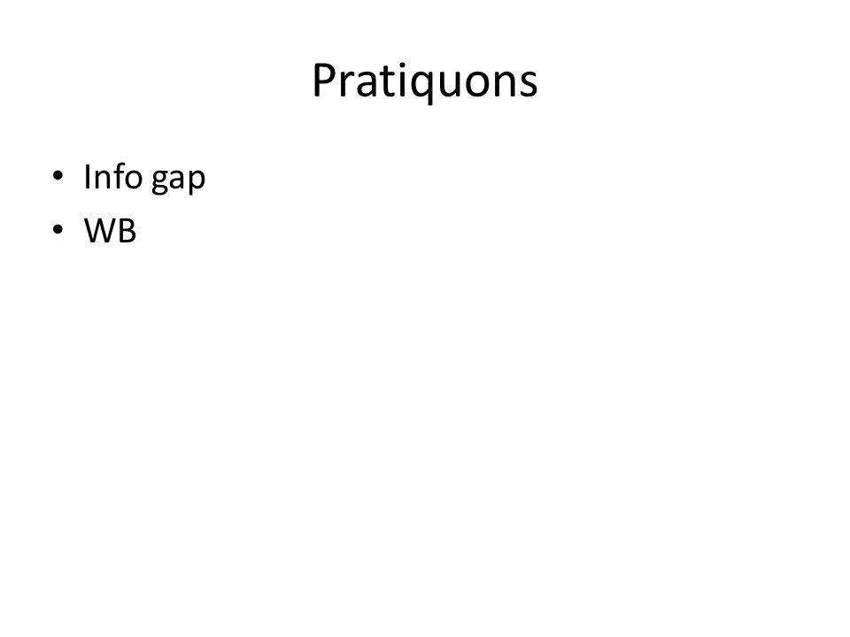 Pratiquons Info gap WB