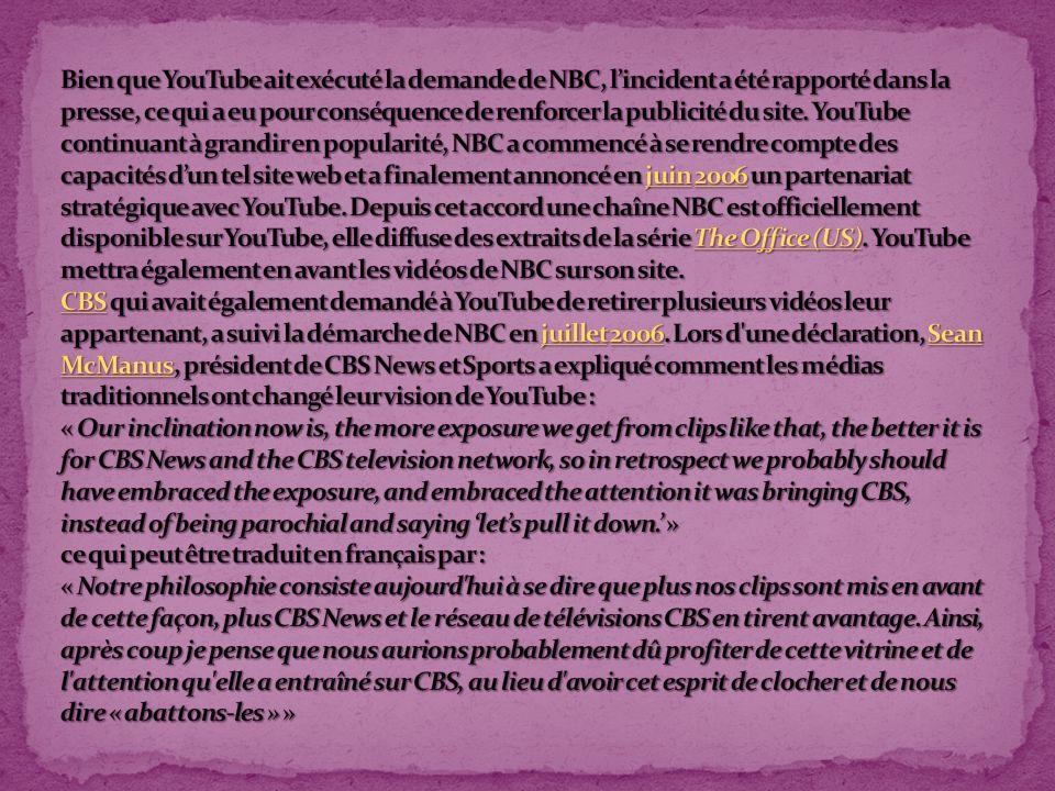 Grâce au bouche-à-oreille sur le net, YouTube a pu se faire connaître en un temps relativement court.