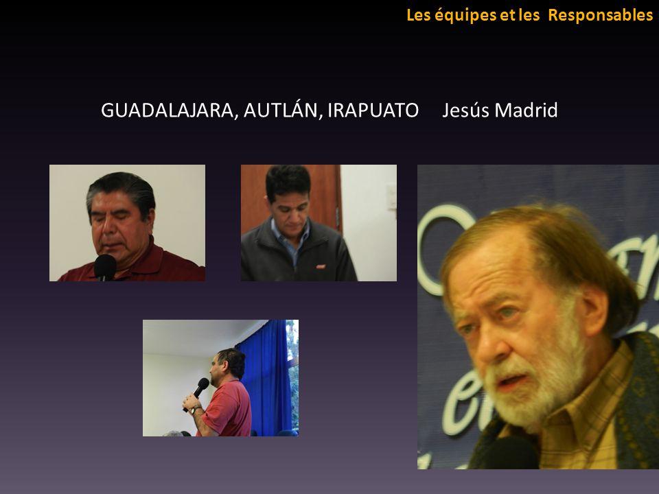 Les équipes et les Responsables GUADALAJARA, AUTLÁN, IRAPUATO Jesús Madrid
