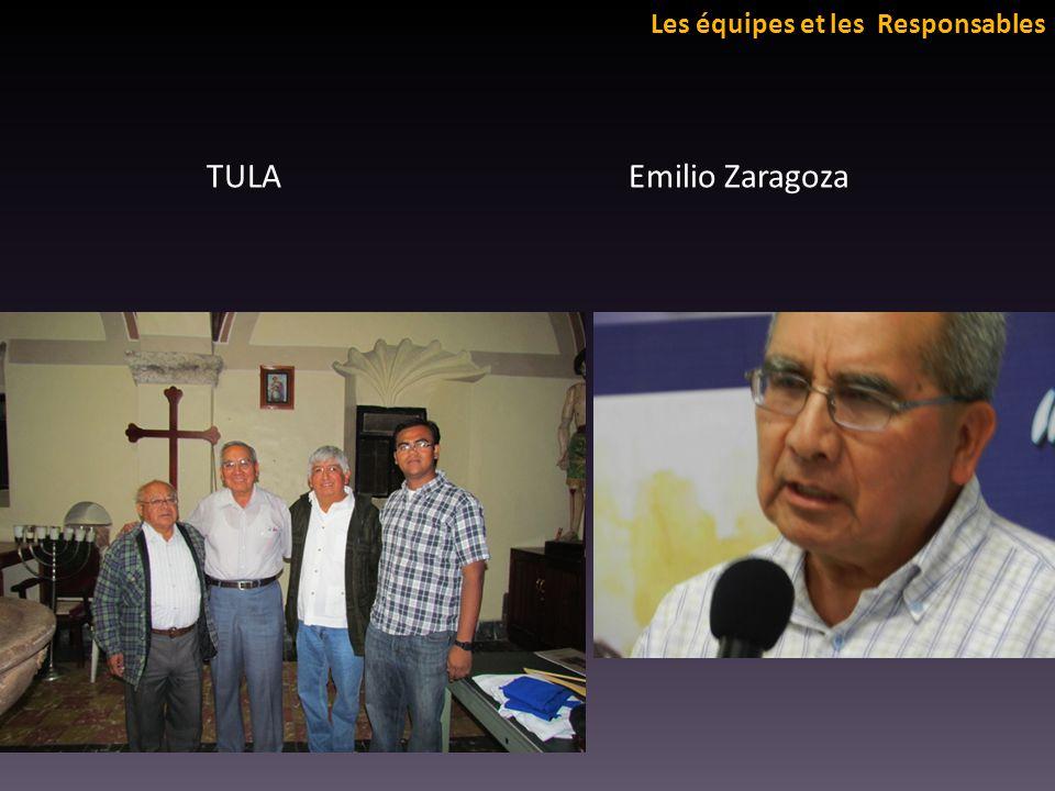 Les équipes et les Responsables TULA Emilio Zaragoza