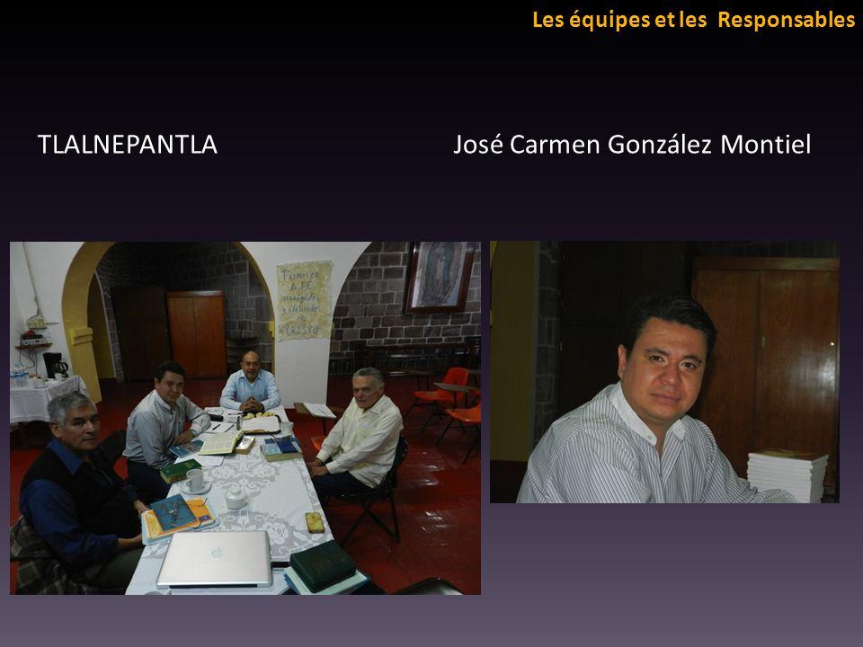 Les équipes et les Responsables TLALNEPANTLA José Carmen González Montiel