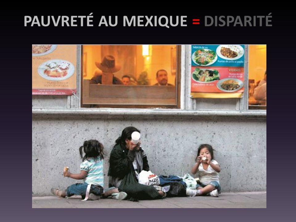 PAUVRETÉ AU MEXIQUE = DISPARITÉ