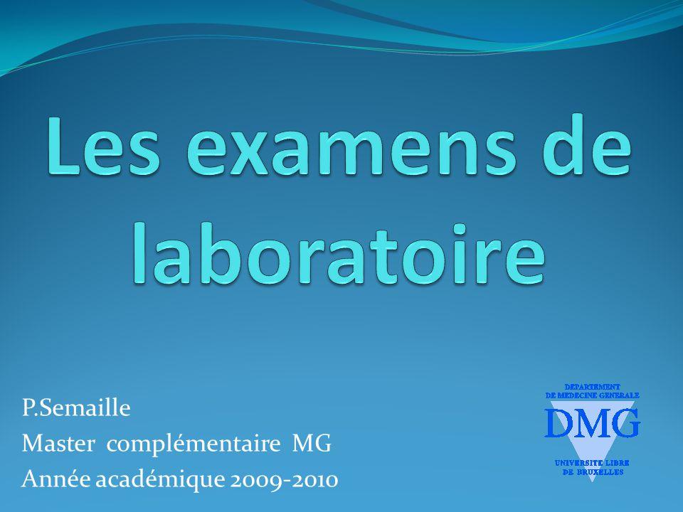P.Semaille Master complémentaire MG Année académique 2009-2010