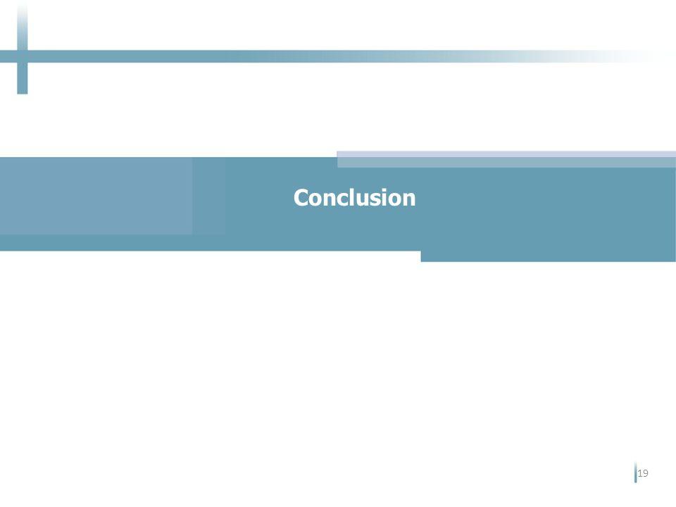 Conclusion 19