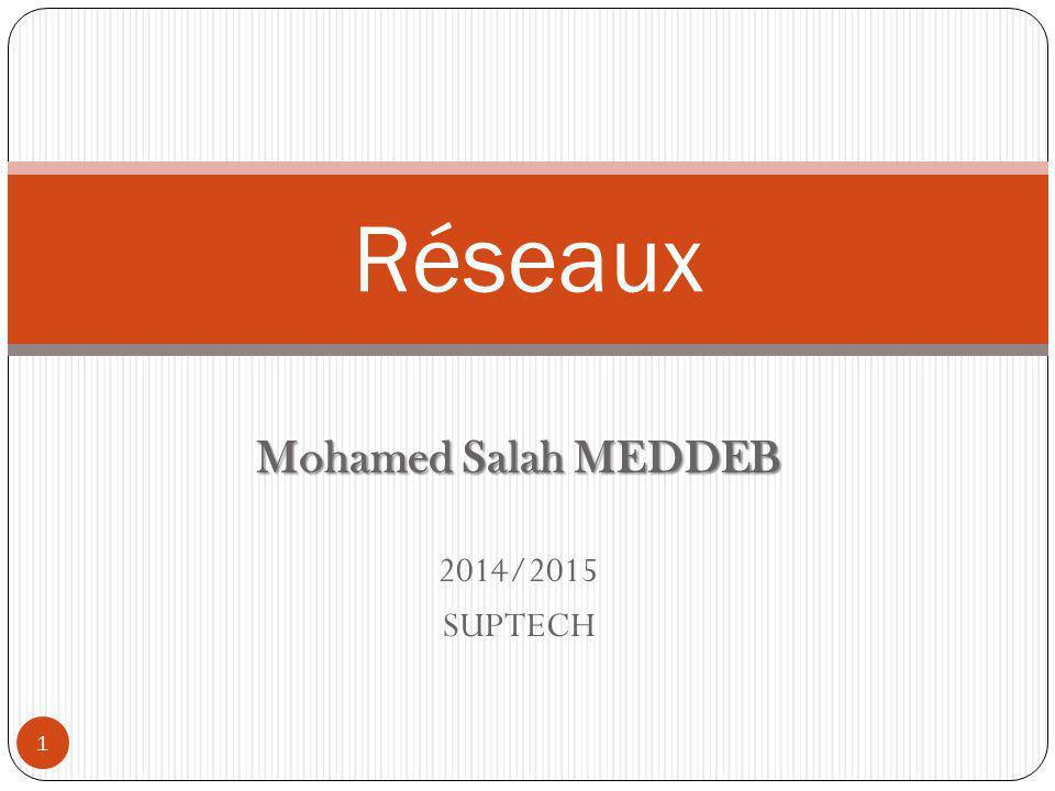 Mohamed Salah MEDDEB 2014/2015 SUPTECH Réseaux 1