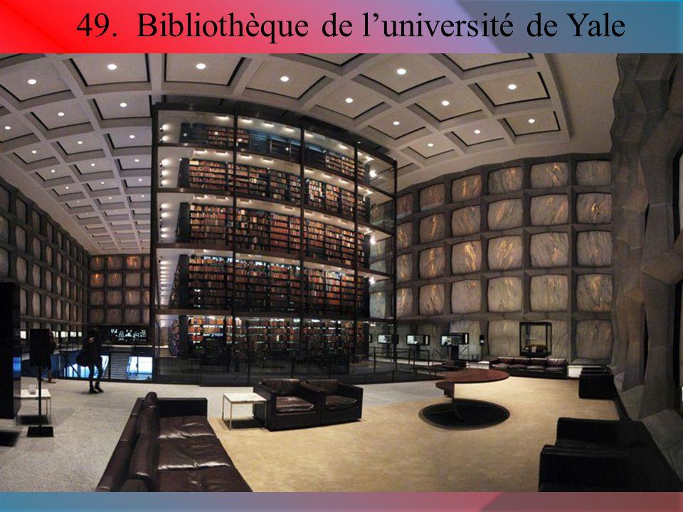 49. Bibliothèque de l'université de Yale