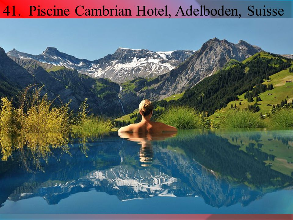 41. Piscine Cambrian Hotel, Adelboden, Suisse