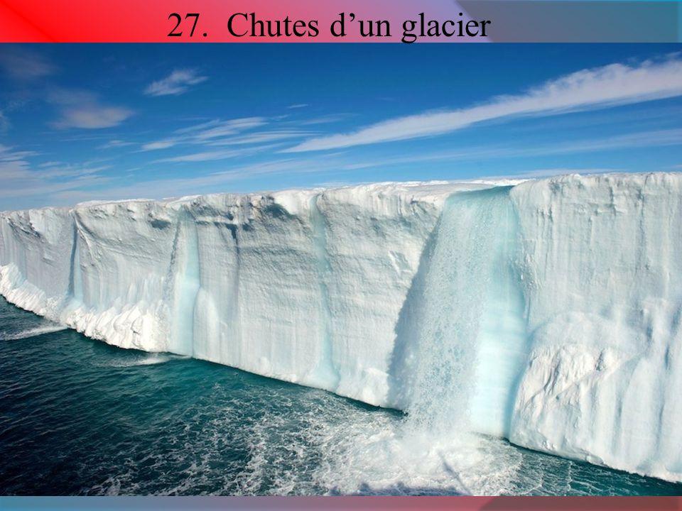 27. Chutes d'un glacier