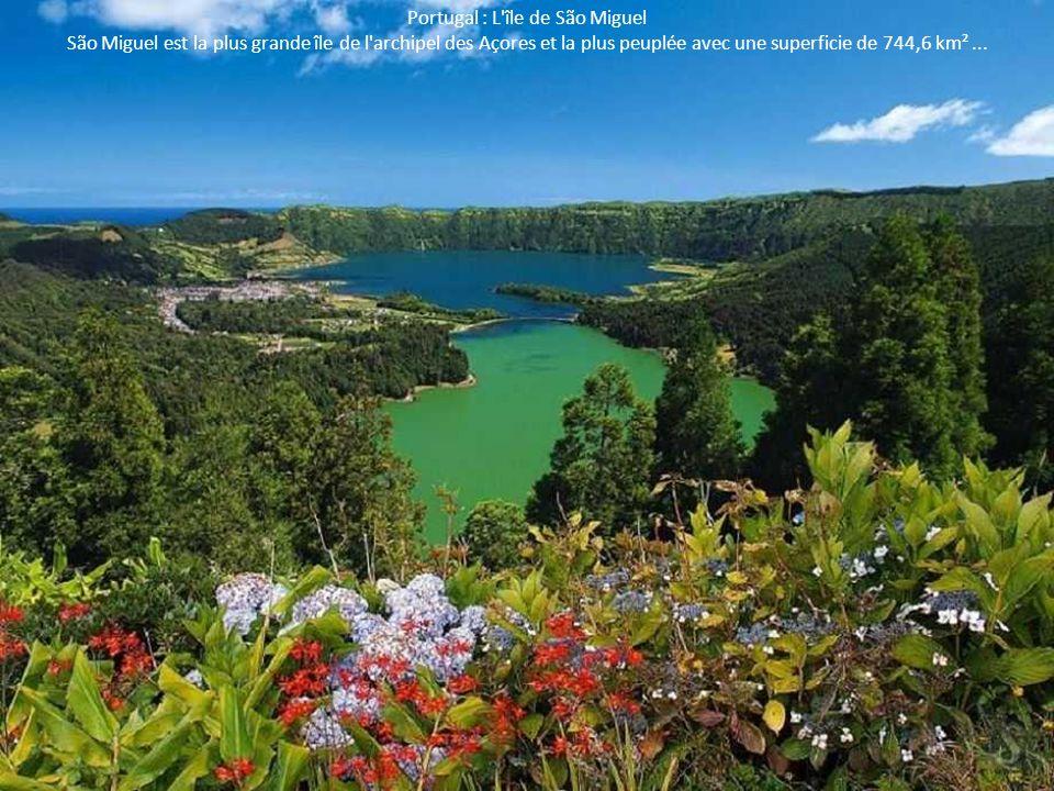 Portugal : L'île de São Miguel São Miguel est la plus grande île de l'archipel des Açores et la plus peuplée avec une superficie de 744,6 km²...