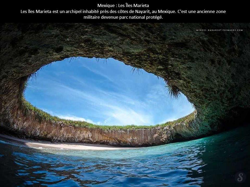 Mexique : Les Îles Marieta Les îles Marieta est un archipel inhabité près des côtes de Nayarit, au Mexique. C'est une ancienne zone militaire devenue