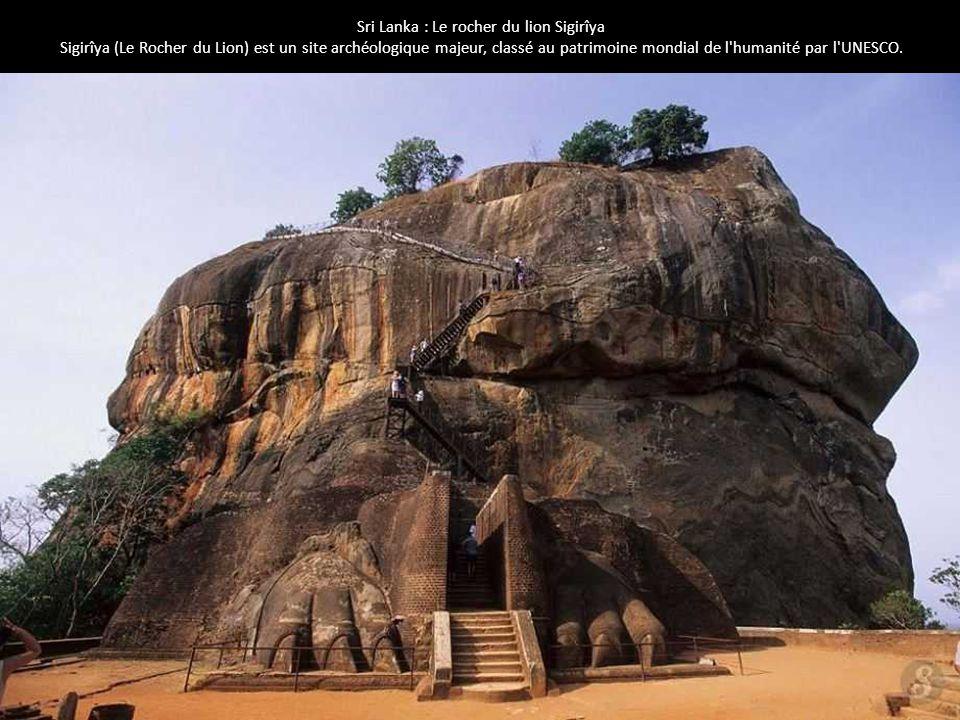 Sri Lanka : Le rocher du lion Sigirîya Sigirîya (Le Rocher du Lion) est un site archéologique majeur, classé au patrimoine mondial de l'humanité par l