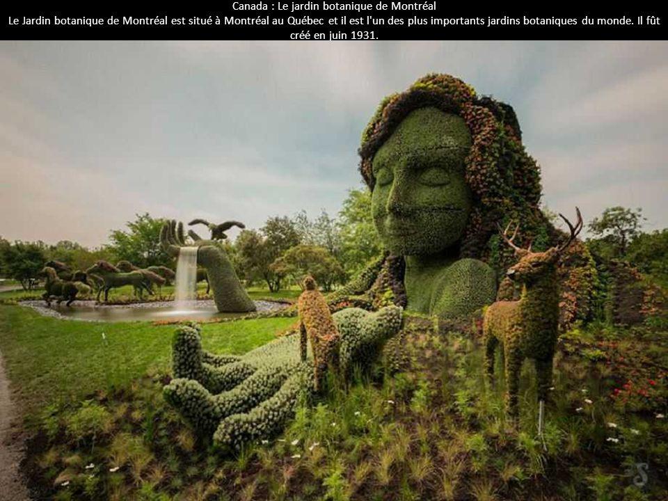 Canada : Le jardin botanique de Montréal Le Jardin botanique de Montréal est situé à Montréal au Québec et il est l'un des plus importants jardins bot