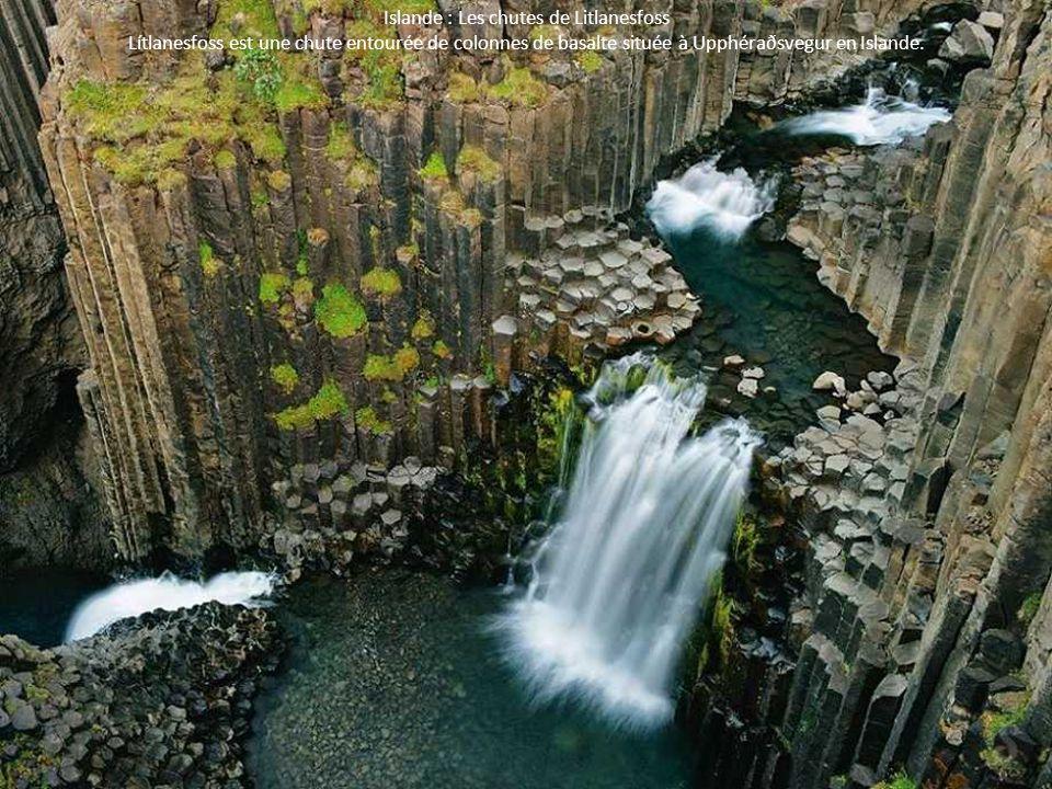 Islande : Les chutes de Litlanesfoss Lítlanesfoss est une chute entourée de colonnes de basalte située à Upphéraðsvegur en Islande.