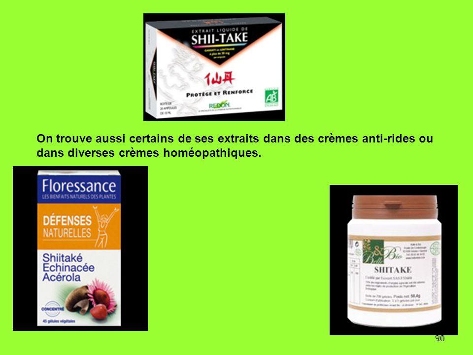90 On trouve aussi certains de ses extraits dans des crèmes anti-rides ou dans diverses crèmes homéopathiques. Vieux blocs ayant donné, tout marron et