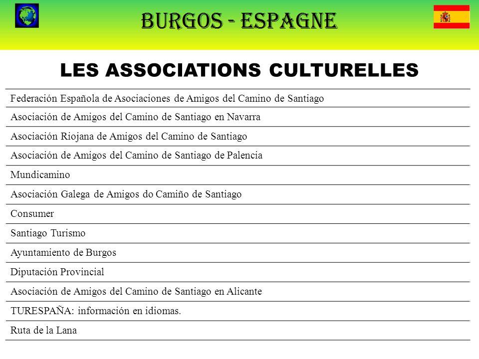 LES ASSOCIATIONS CULTURELLES Federación Española de Asociaciones de Amigos del Camino de Santiago Asociación de Amigos del Camino de Santiago en Navar