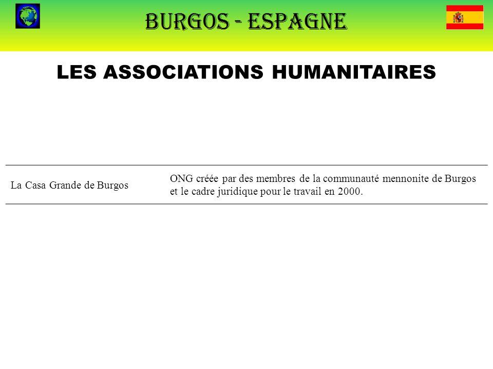 LES ASSOCIATIONS HUMANITAIRES La Casa Grande de Burgos ONG créée par des membres de la communauté mennonite de Burgos et le cadre juridique pour le tr