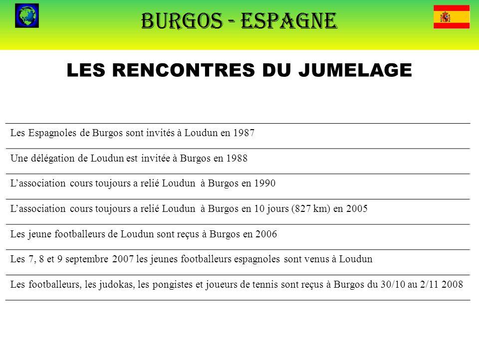 LES RENCONTRES DU JUMELAGE Les Espagnoles de Burgos sont invités à Loudun en 1987 Une délégation de Loudun est invitée à Burgos en 1988 L'association