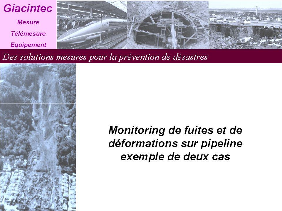 Monitoring de fuites et de déformations ( site 1 ) Complexe industriel Lok-San à Busan Ce projet date de 2005 et consiste à mesurer fuites et déformations.