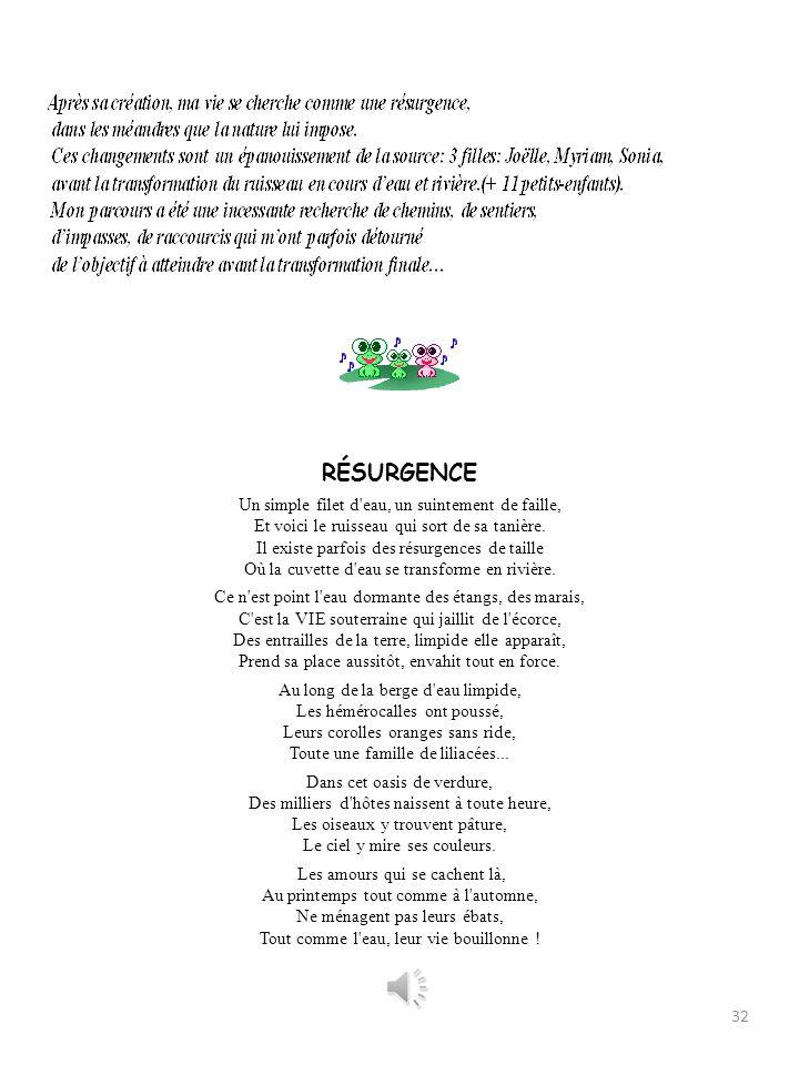 II RÉCRÉATION (Re-création) 31