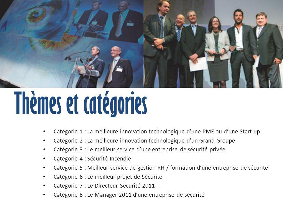 Catégorie 1 : La meilleure innovation technologique d'une PME ou d'une Start-up Catégorie 2 : La meilleure innovation technologique d'un Grand Groupe