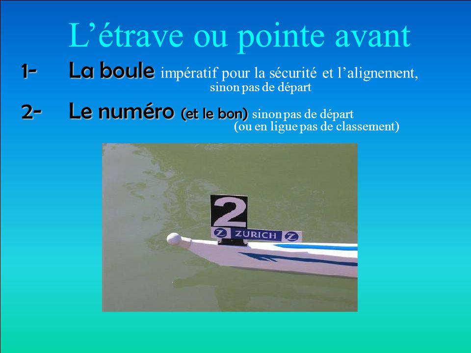 Les chaussures SECURITE (7cm): pour permettre aux rameurs de se dégager du bateau sans l'aide des mains dans les délais les plus brefs (obligation de réparer sinon pas de course)