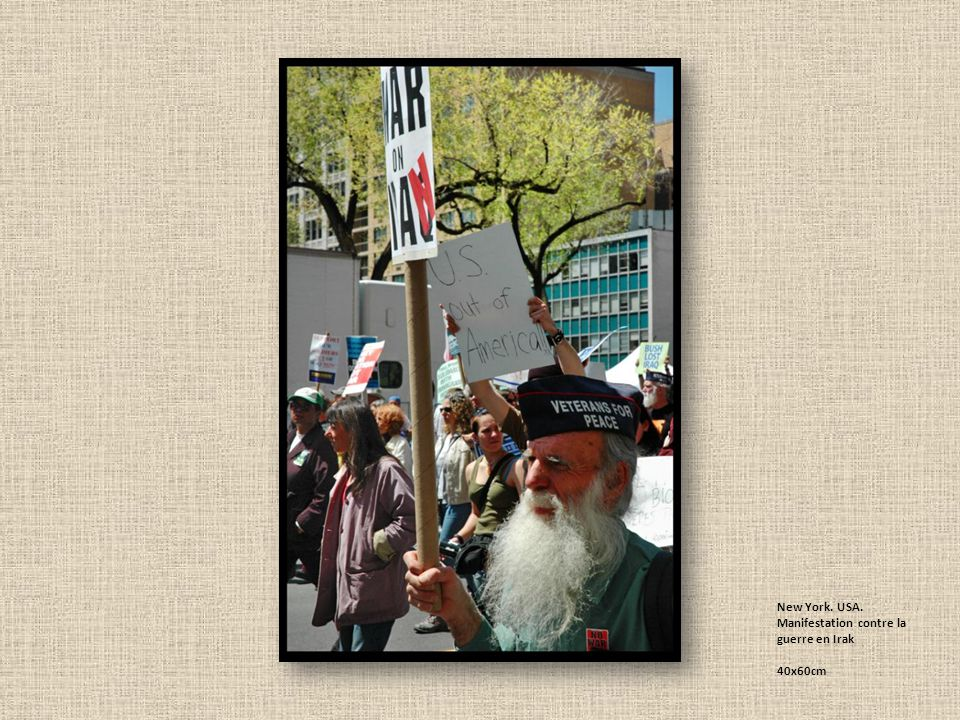 New York. USA. Manifestation contre la guerre en Irak 40x60cm