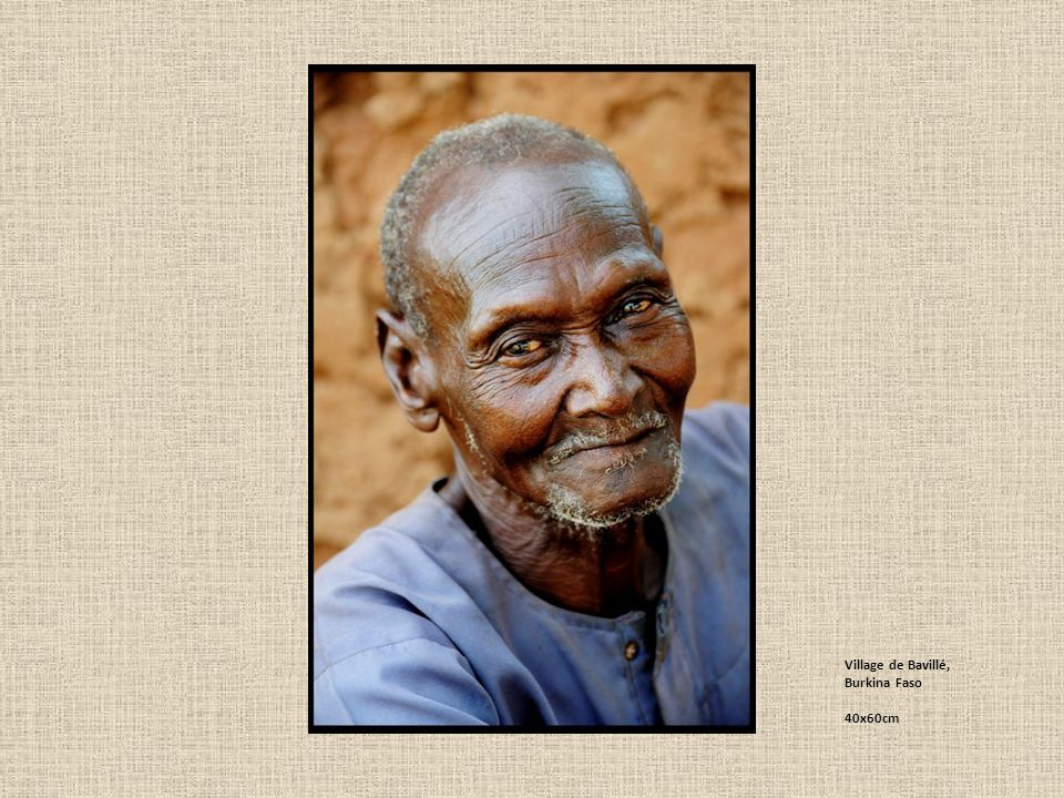 Village de Bavillé, Burkina Faso 40x60cm