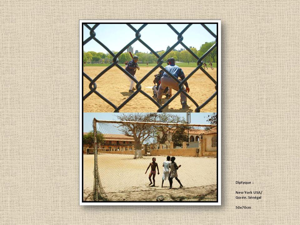 Diptyque : New York USA/ Gorée. Sénégal 50x70cm