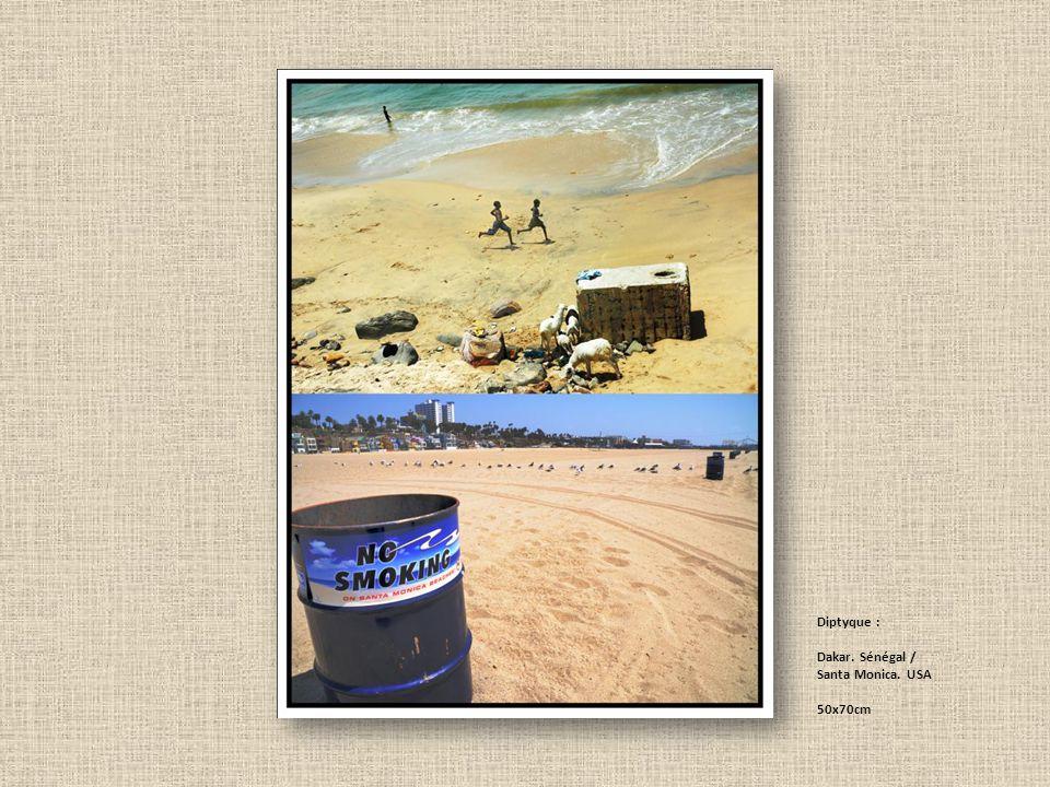 Diptyque : Dakar. Sénégal / Santa Monica. USA 50x70cm