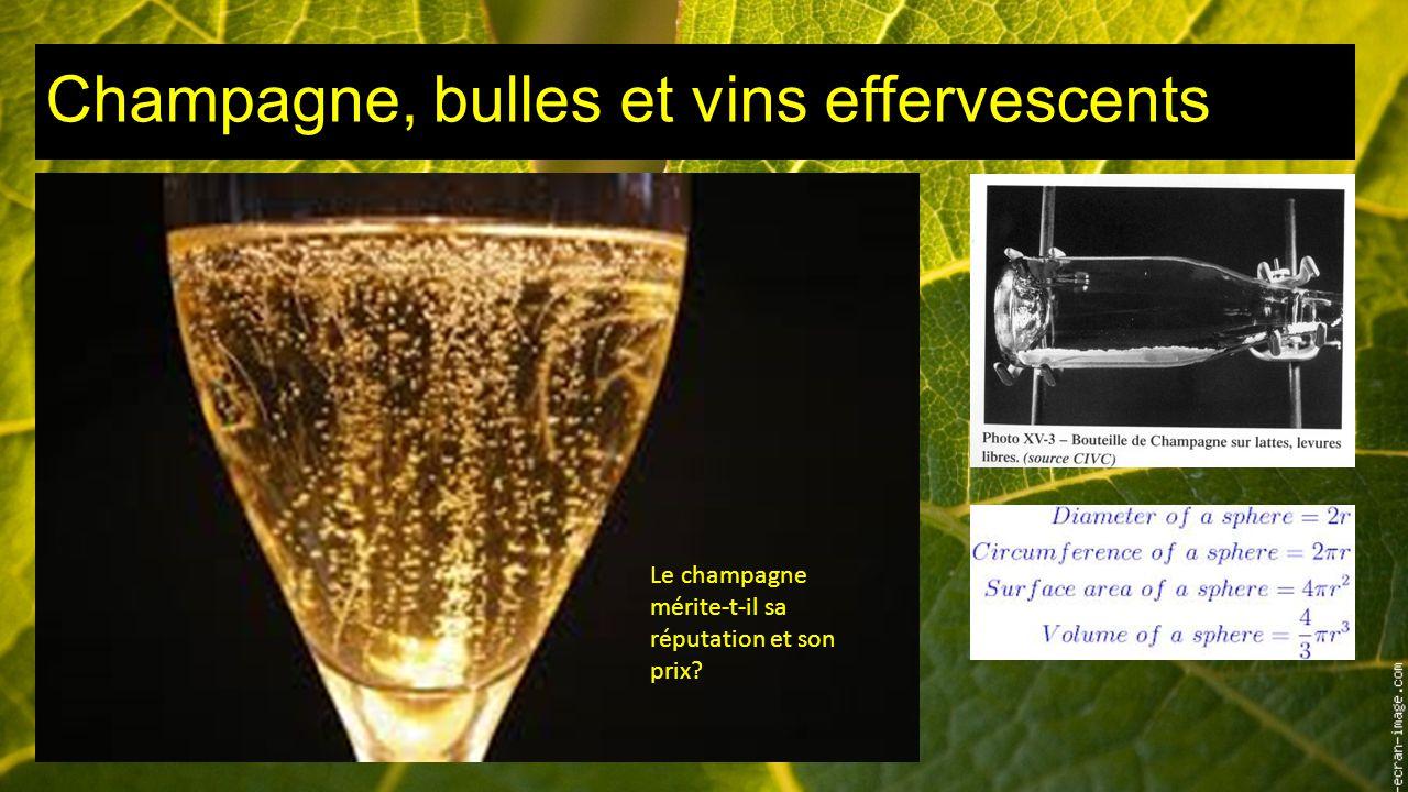 Champagne, bulles et vins effervescents Le champagne mérite-t-il sa réputation et son prix?
