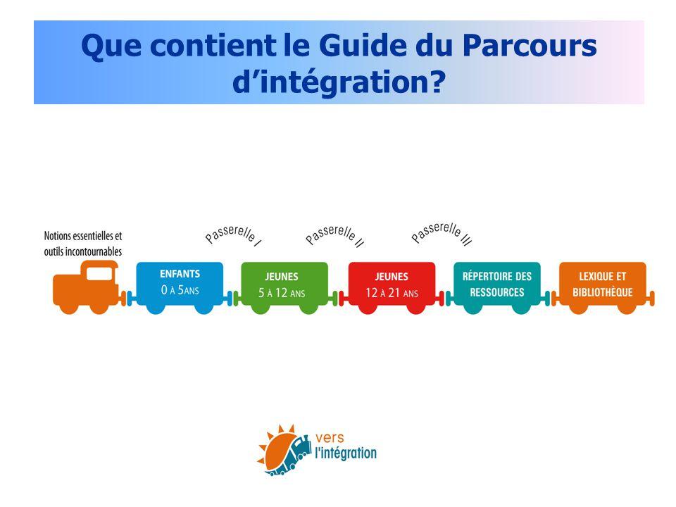 Que contient le Guide du Parcours d'intégration?