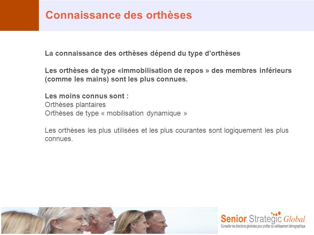 Connaissance des orthèses La connaissance des orthèses dépend du type d'orthèses Les orthèses de type «immobilisation de repos » des membres inférieur