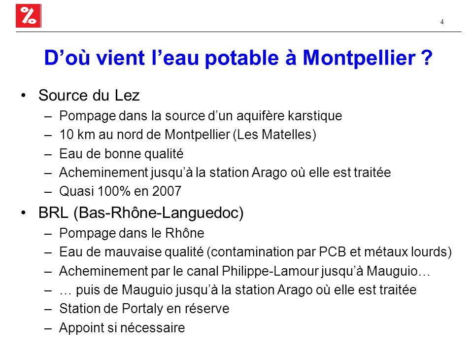 4 D'où vient l'eau potable à Montpellier .