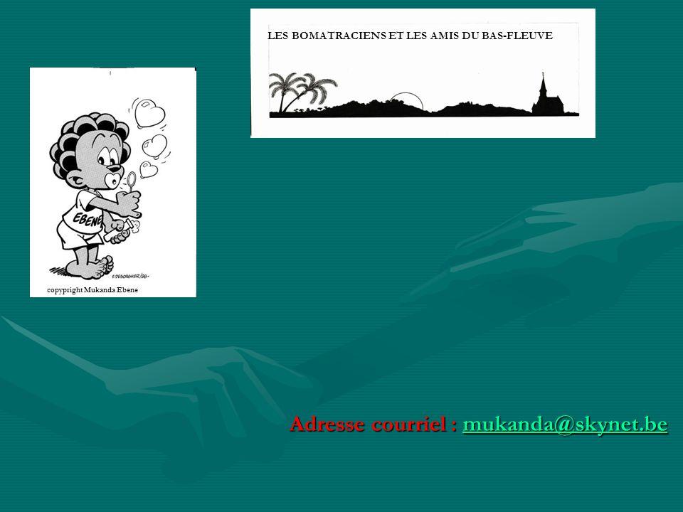  L Amicale des Bomatraciens et amis du Bas-Fleuve regroupe les amis Européens et Africains vivant ou ayant vécu au Congo (ex belge) ou R.D.C., dans le Bas-Congo, principalement entre Kinshasa et Banana.