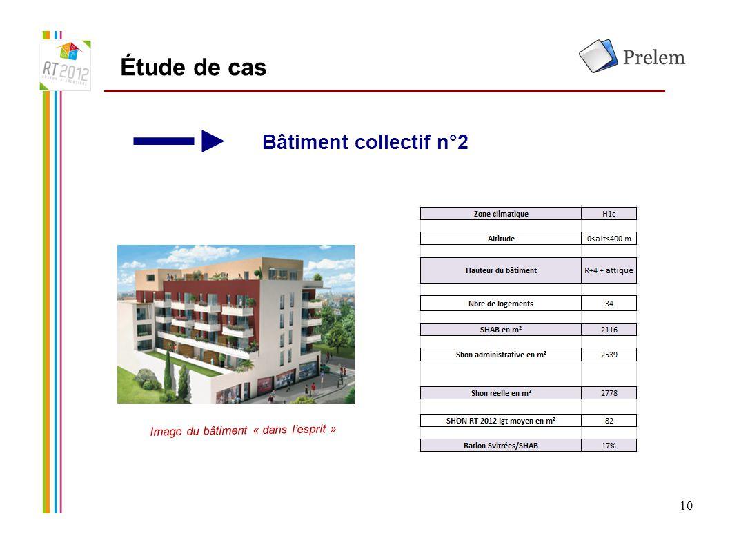 10 Étude de cas Bâtiment collectif n°2 Image du bâtiment « dans l'esprit »