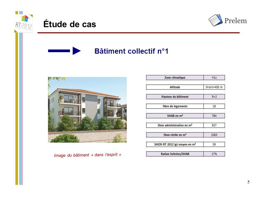 5 Étude de cas Bâtiment collectif n°1 Image du bâtiment « dans l'esprit »