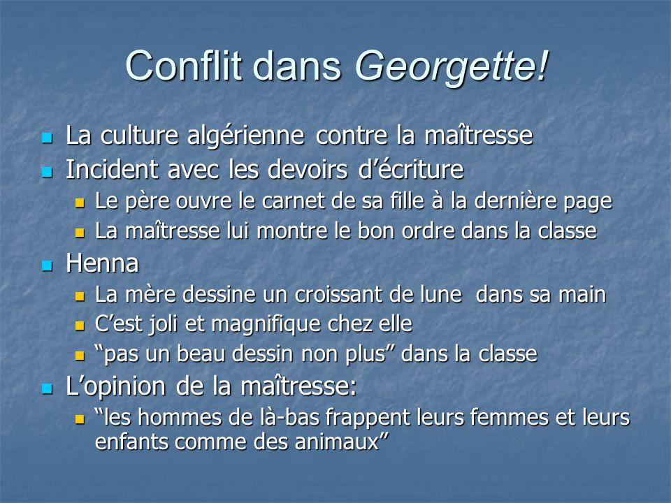 Conflit dans Georgette.
