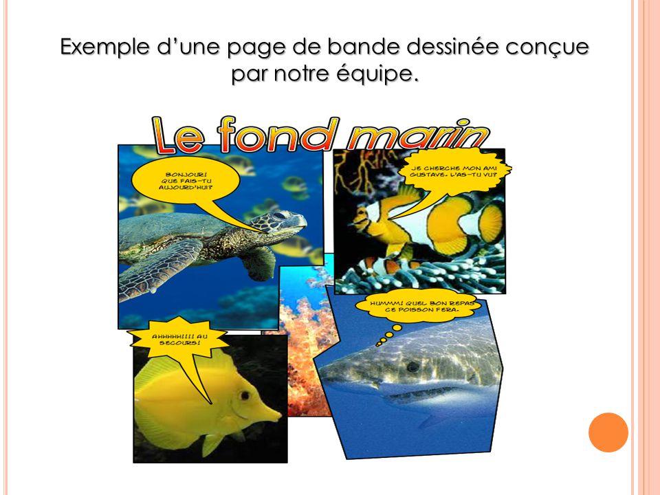 Exemple d'une page de bande dessinée conçue par notre équipe.