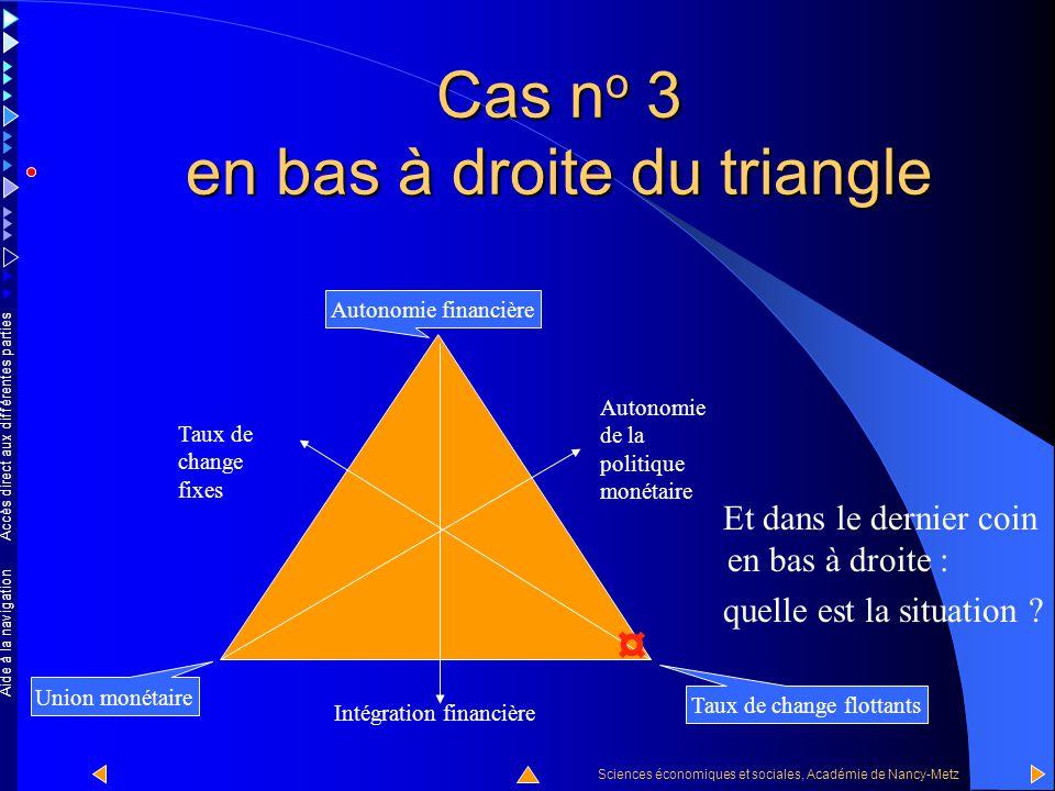 Accès direct aux différentes parties Sciences économiques et sociales, Académie de Nancy-Metz Aide à la navigation Cas n o 2 En résumé, dans le coin e