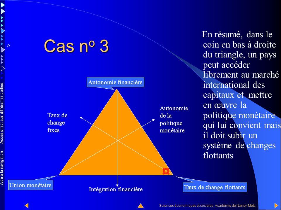 Accès direct aux différentes parties Sciences économiques et sociales, Académie de Nancy-Metz Aide à la navigation Cas n o 3 Dans le coin en bas à dro