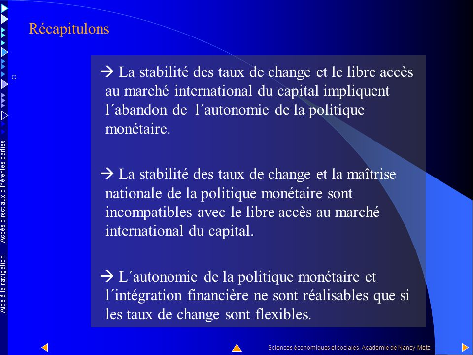 Accès direct aux différentes parties Sciences économiques et sociales, Académie de Nancy-Metz Aide à la navigation Le triangle maudit Réponse : Aucune .