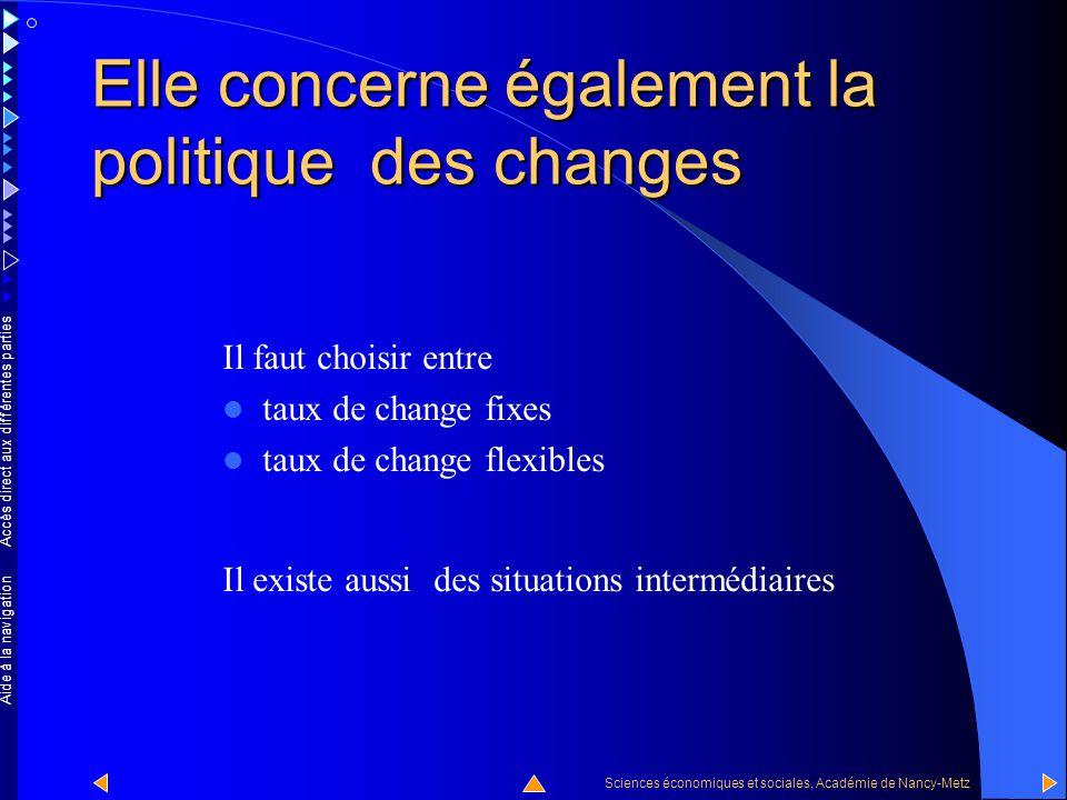Accès direct aux différentes parties Sciences économiques et sociales, Académie de Nancy-Metz Aide à la navigation La contrainte extérieure concerne a