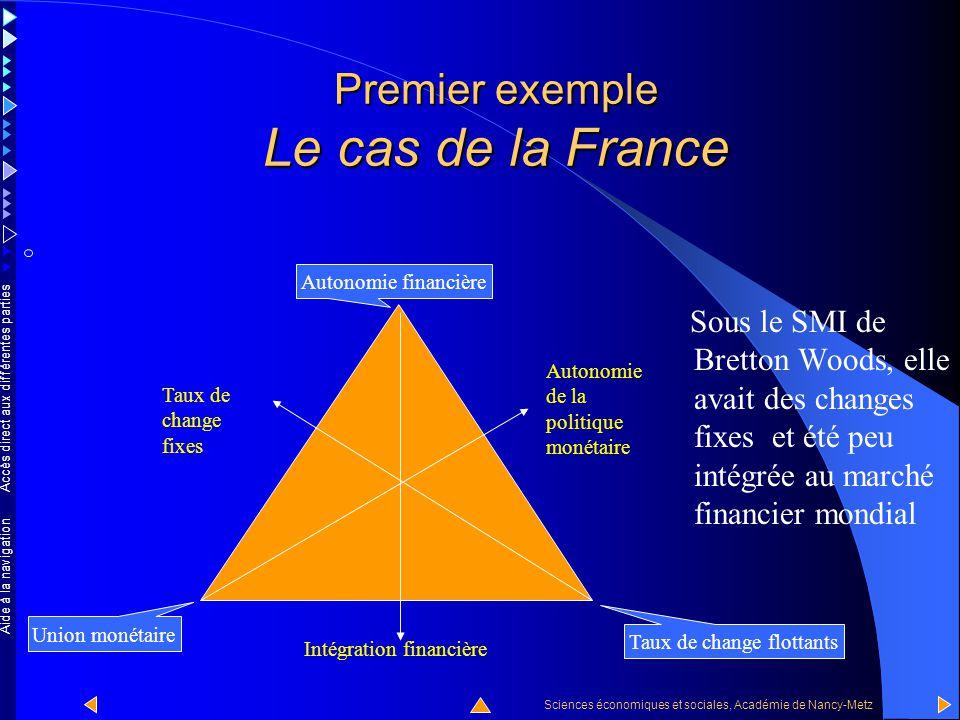 Accès direct aux différentes parties Sciences économiques et sociales, Académie de Nancy-Metz Aide à la navigation La France depuis les années soixant