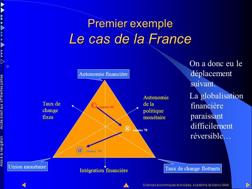 Accès direct aux différentes parties Sciences économiques et sociales, Académie de Nancy-Metz Aide à la navigation … vers le bas et la gauche, bien sû