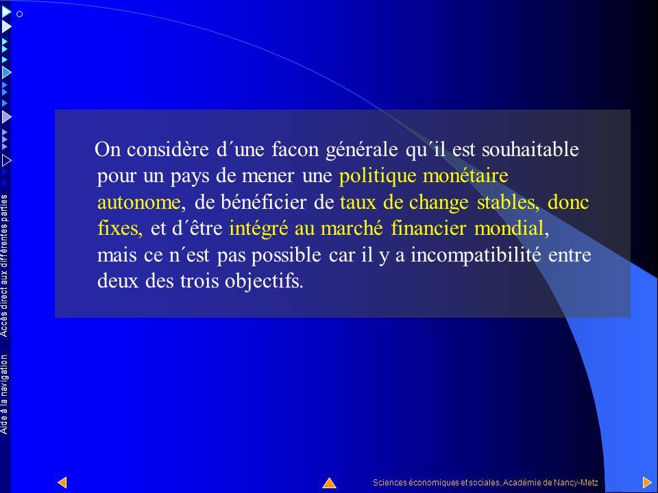 Accès direct aux différentes parties Sciences économiques et sociales, Académie de Nancy-Metz Aide à la navigation Elle concerne enfin la politique mo